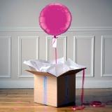 Ballon Cadeau - Rond Rose fuschia - @ThePopCase