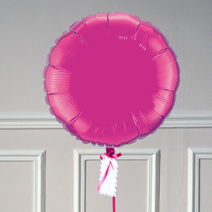 Ballon Cadeau Rond Rose Fuschia - ThePopCase