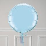 Ballon Cadeau Rond Bleu Pastel - GP - ThePopCase