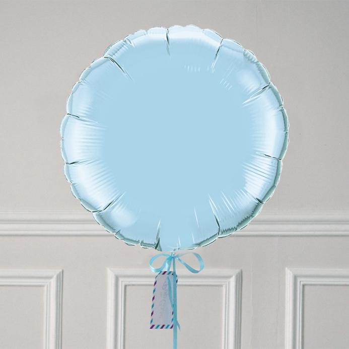 Ballon Cadeau Rond Bleu Pastel - ThePopCase