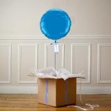 Ballon Cadeau - Rond Bleu - @ThePopCase