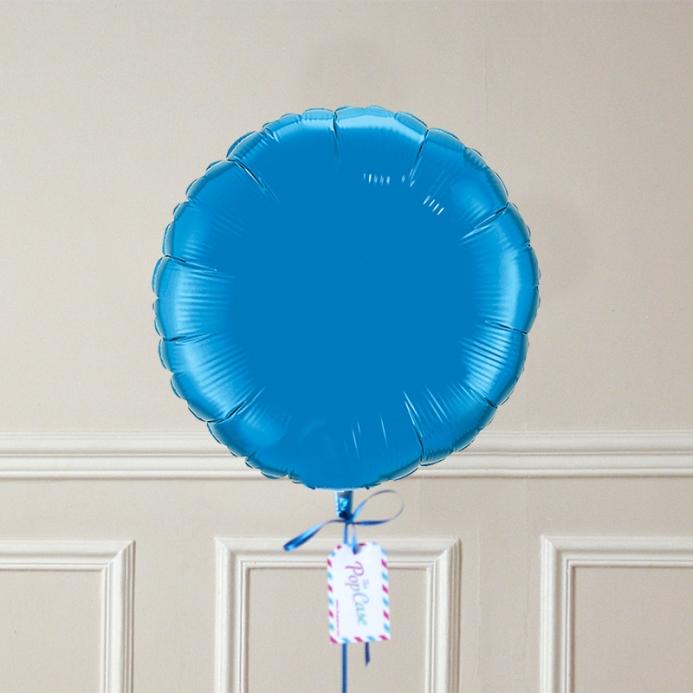 Ballon Cadeau Rond Bleu - ThePopCase
