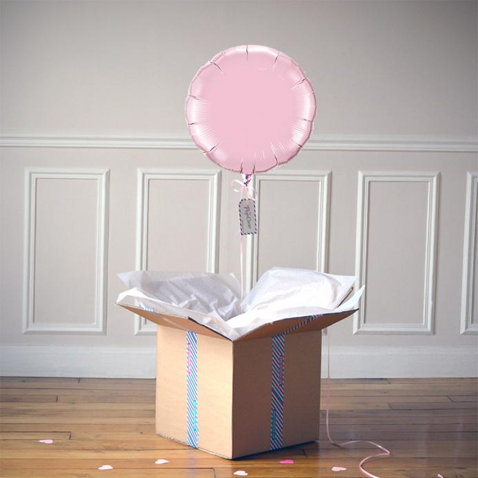 Ballon Cadeau Rond Rose Pastel - ThePopCase