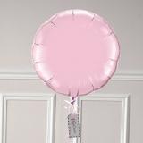 Ballon Cadeau - Rond Rose Pastel - @ThePopCase