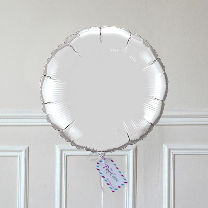 Ballon Cadeau Rond Argent - ThePopCase