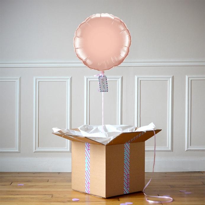 Ballon Cadeau Rond Rose Gold - ThePopCase
