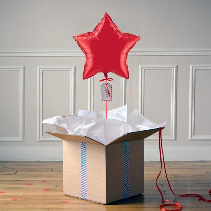 Ballon Cadeau Etoile Rouge - ThePopCase
