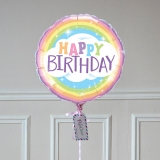 Ballon Cadeau Happy Birthday Rainbow - GP - The PopCase