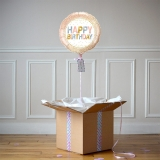 Ballon Cadeau Happy Birthday 3 Ors - The PopCase