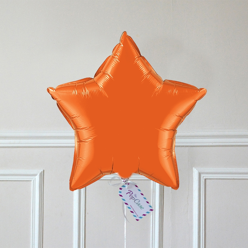 Ballon Cadeau - Etoile Orange