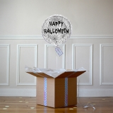 Ballon Cadeau - Happy Halloween Argent