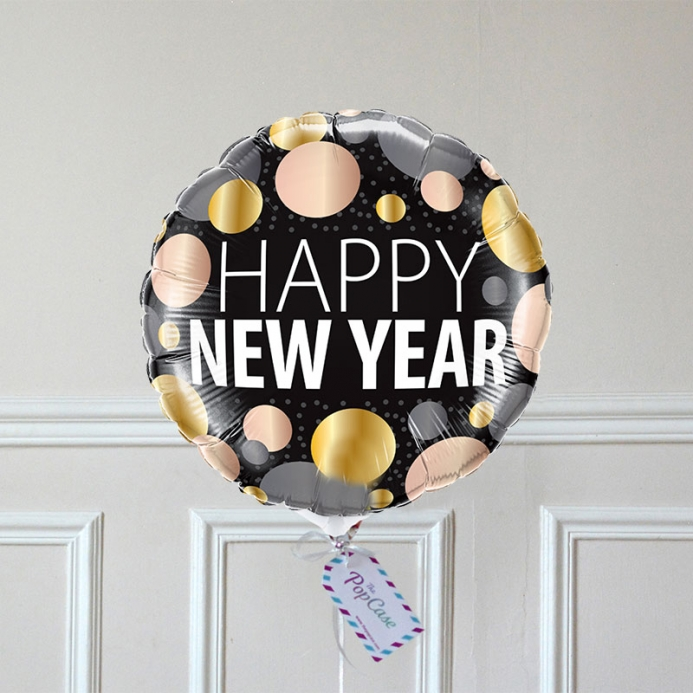 Ballon Cadeau - Happy New Year - 3 ors