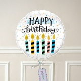 Ballon Cadeau - Happy Birthday Bougies GP