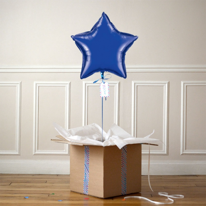 Ballon Cadeau Etoile Bleue Nuit - The PopCase