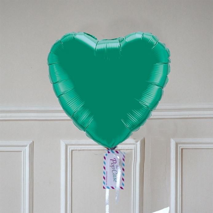 Ballon Cadeau - Coeur Vert