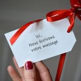 Ballon Cadeau - Coeur Vert - Message
