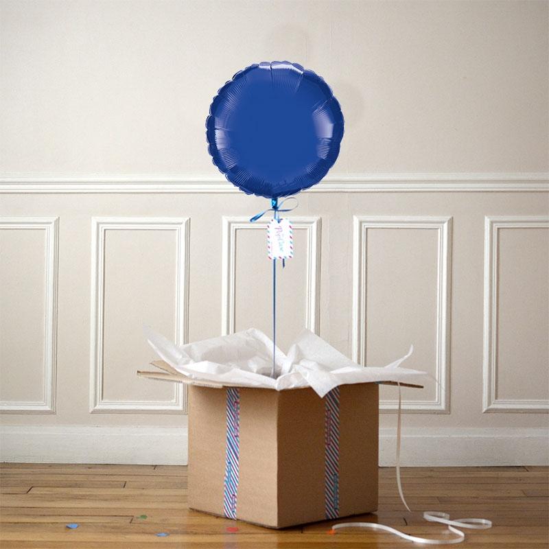 Ballon Cadeau Rond Bleu Nuit - The PopCase