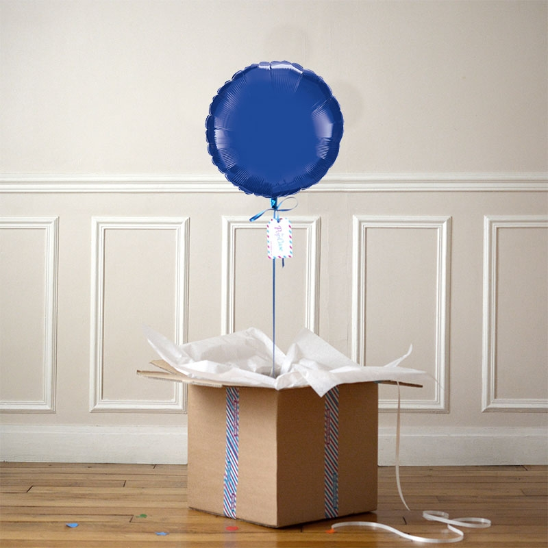 Ballon Cadeau - Rond Bleu Nuit