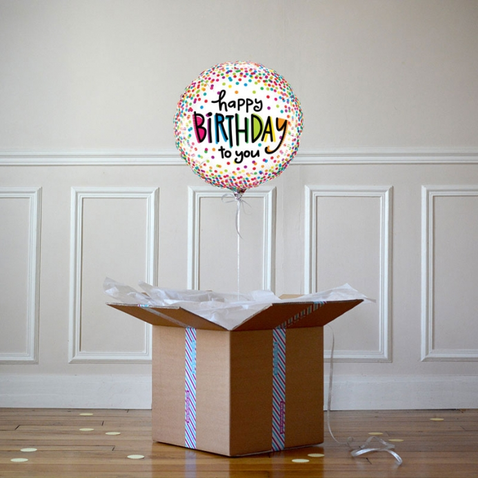 Ballon Happy Birthday Multico - The PopCase