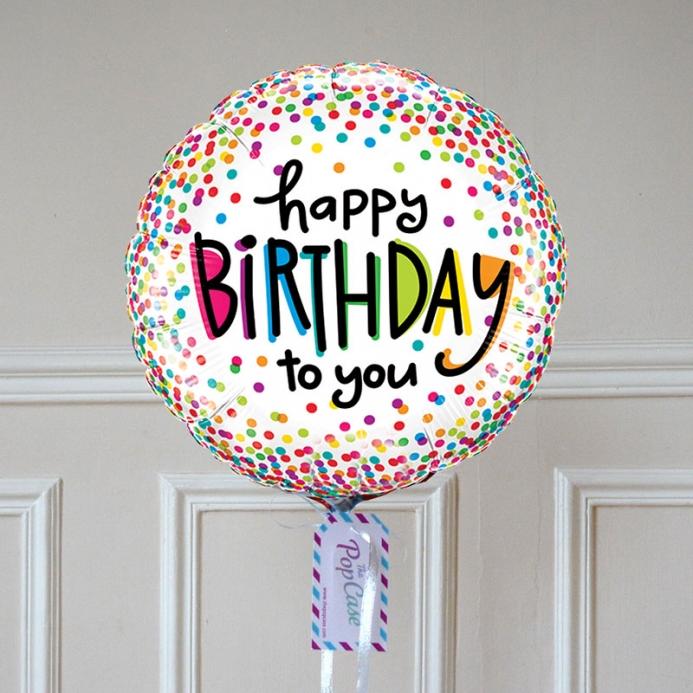 Ballon Happy Birthday Multico - The PopCase