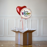 Duo Ballon Cadeau Happy Birthday Multico - The PopCase