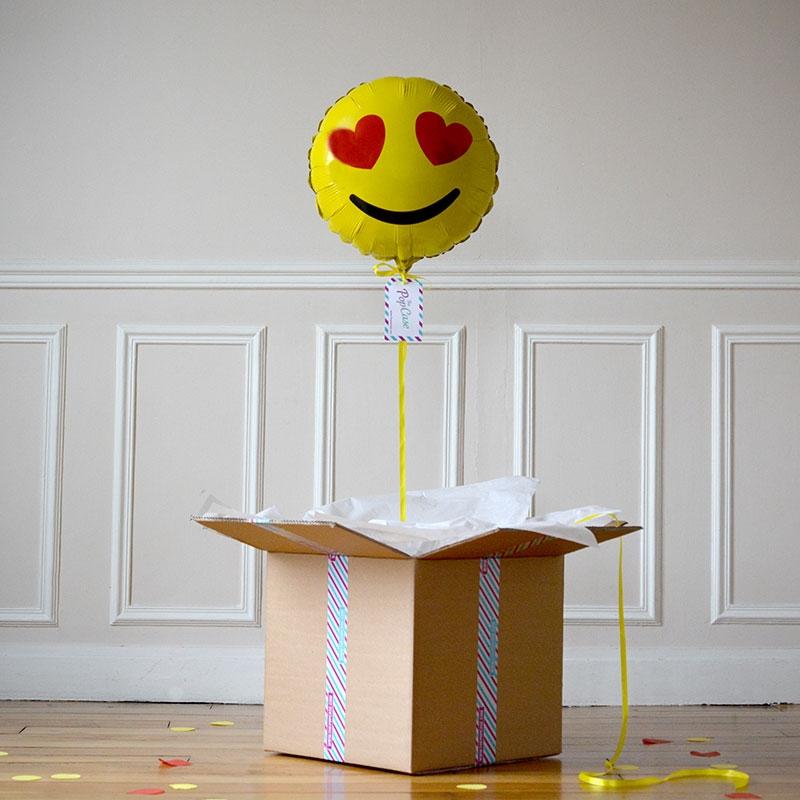 Ballon Cadeau - Emoji Love