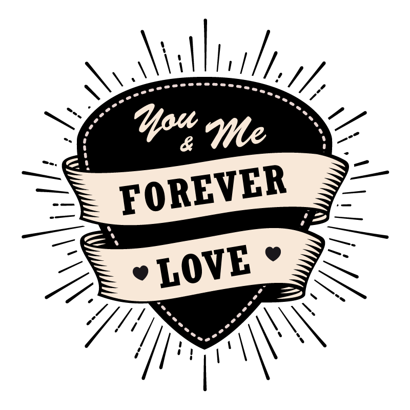 Coffret Cadeau - Forever Love - Sticker