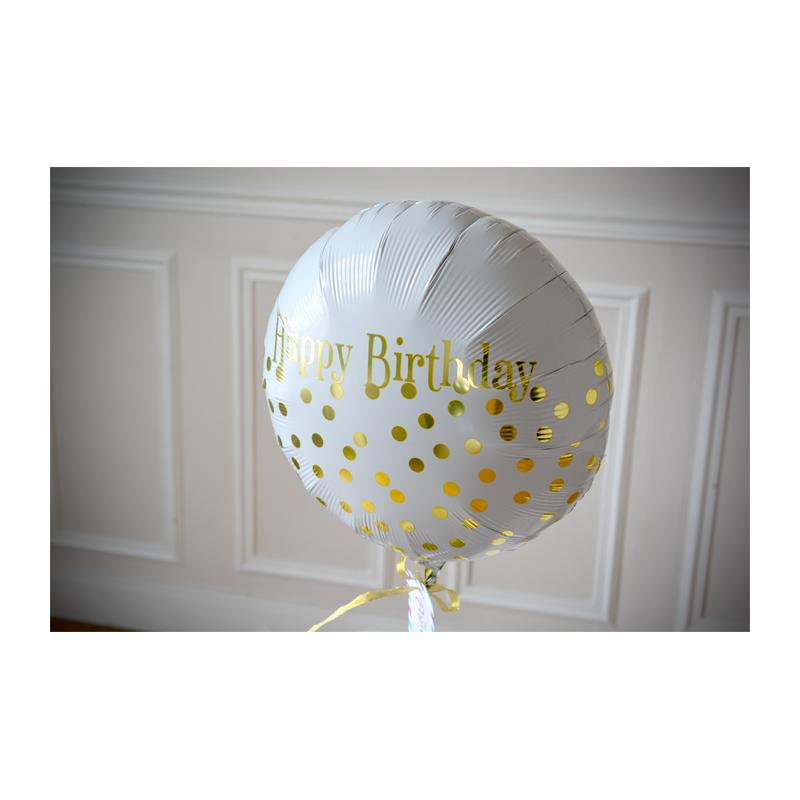 Combo Pochette Anniversaire + Ballon HB Doré