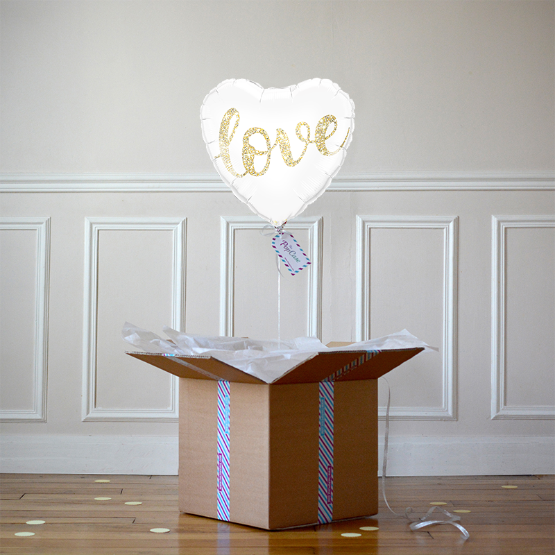 Ballon Cadeau Coeur Love - The PopCase