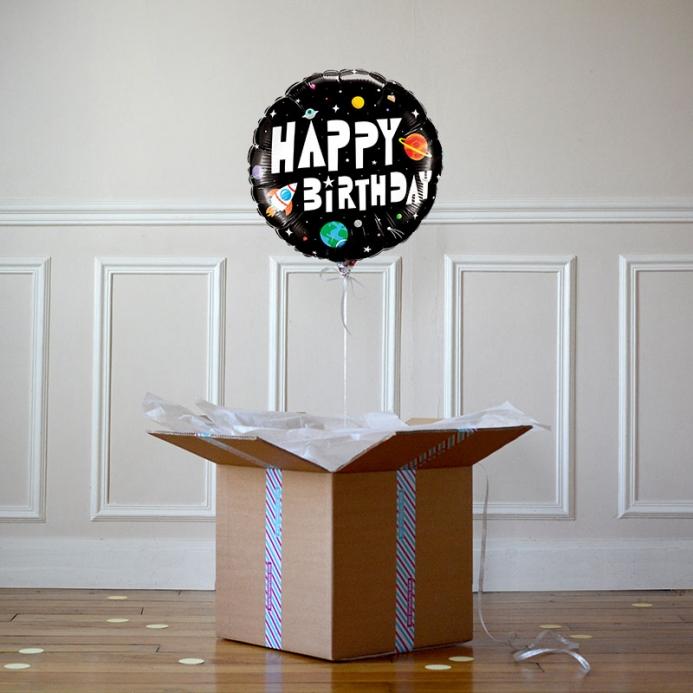 Ballon Cadeau Happy Birthday Cosmonaute - The PopCase