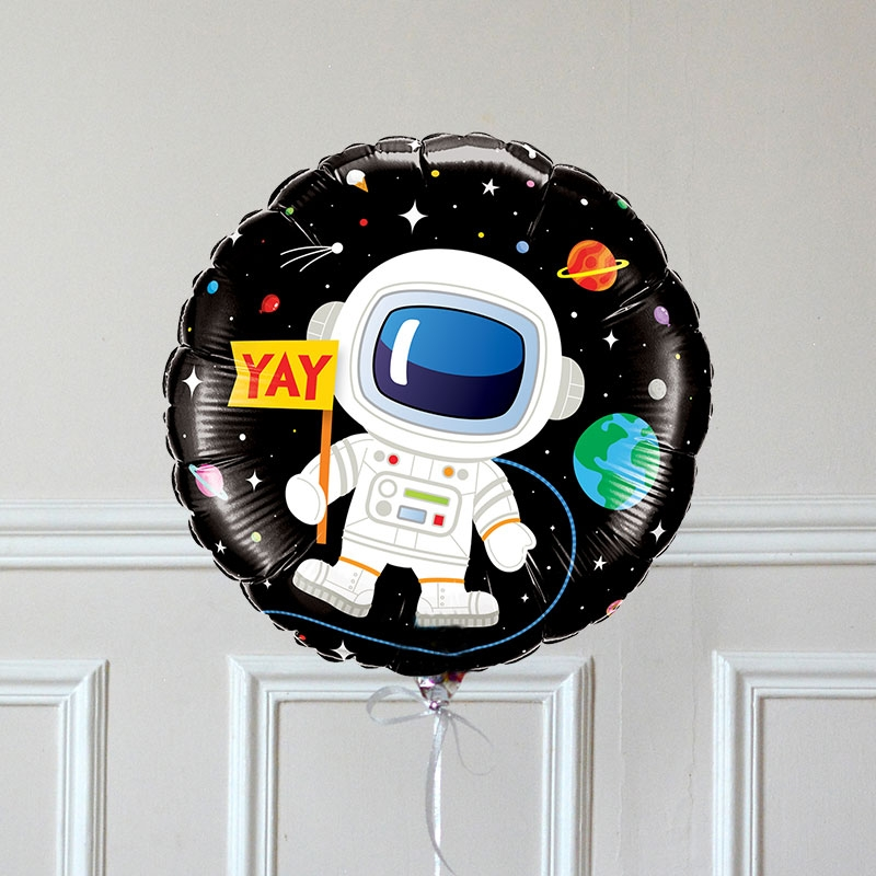 Ballon Cadeau Happy Birthday Cosmonaute - Verso GP - The PopCase