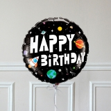 Ballon Cadeau Happy Birthday Cosmonaute - Recto GP - The PopCase