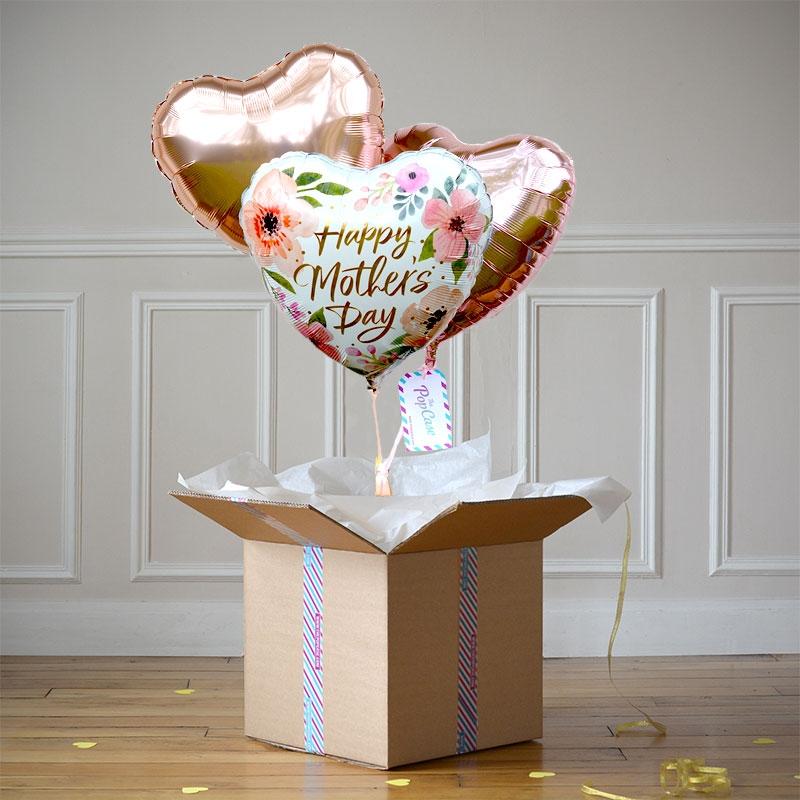 bouquet f te des m res livraison ballon gonfl l 39 h lium. Black Bedroom Furniture Sets. Home Design Ideas