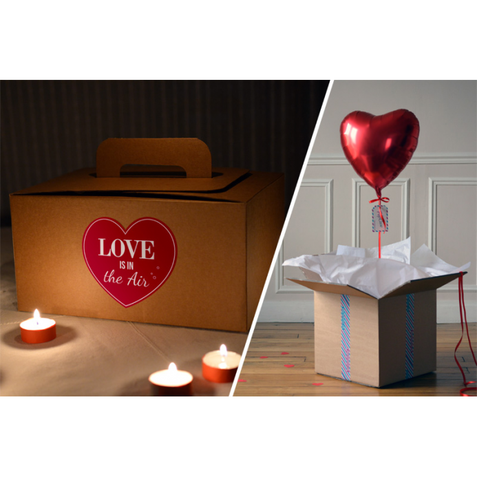 Combo Love is in the Air- Ballon Coeur Rouge