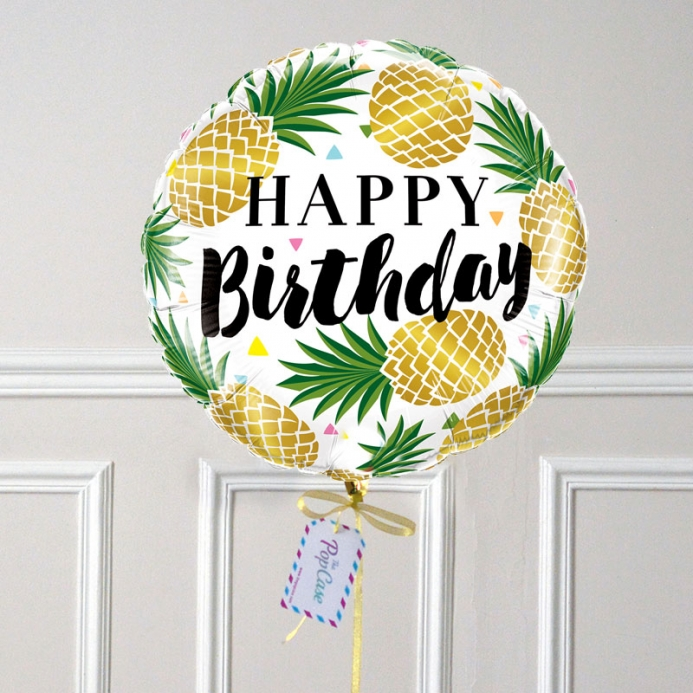 Ballon Cadeau - Happy Birthday Ananas - The PopCase