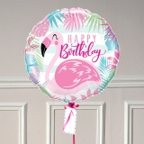 Ballon Cadeau - Happy Birthday Flamingo - GP - The PopCase