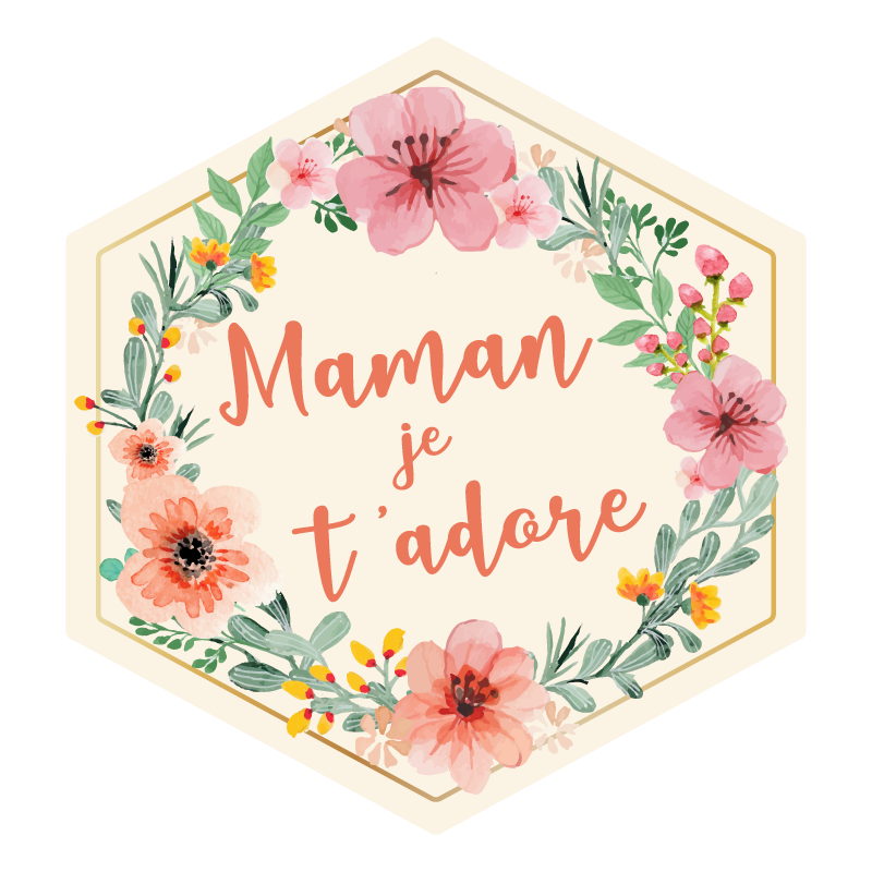 Coffret Maman je t'adore - sticker - The PopCase
