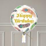 Ballon Cadeau Happy Birthday Plume - GP - The PopCase
