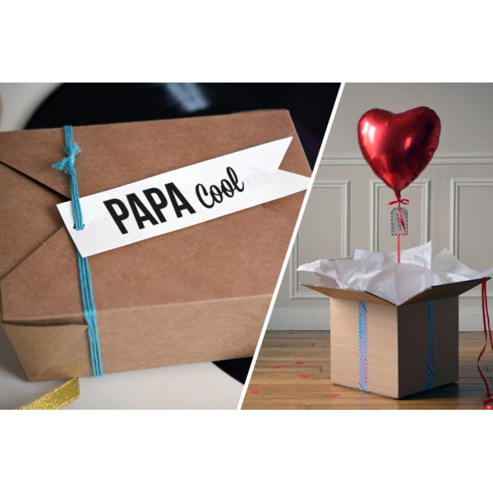 Combo Papa Cool + Ballon Coeur Rouge