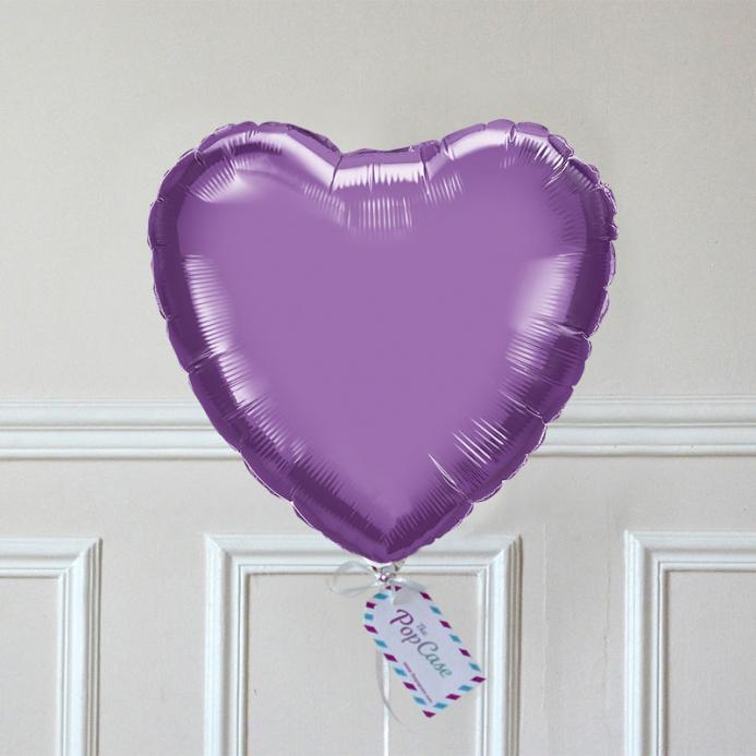 Ballon Cadeau - Cœur Violet - The PopCase