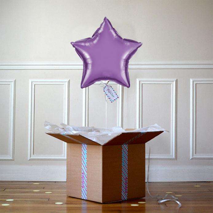 Ballon Cadeau - Etoile Violette - The PopCase