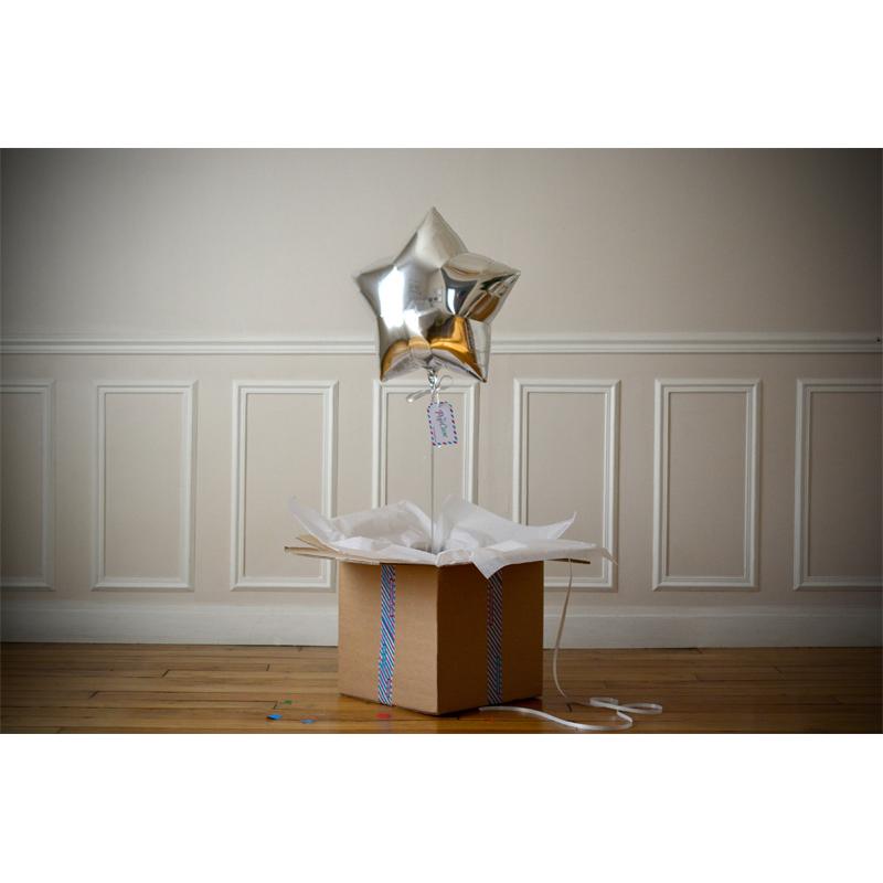 Combo Carte Diamonds + Ballon Etoile Argent