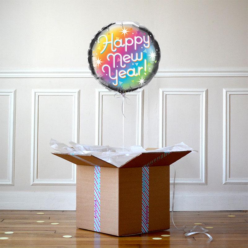 Ballon Happy New Year Prismatic - The PopCase
