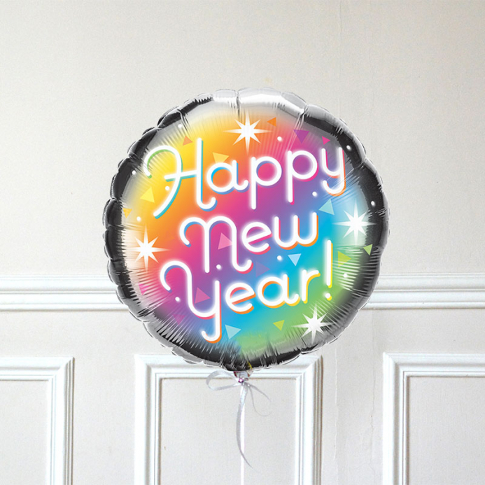 Ballon Happy New Year Prismatic - The PopCase