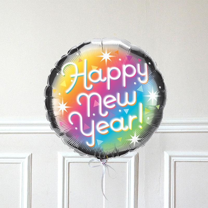 Ballon Happy New Year Prismatic GP - The PopCase