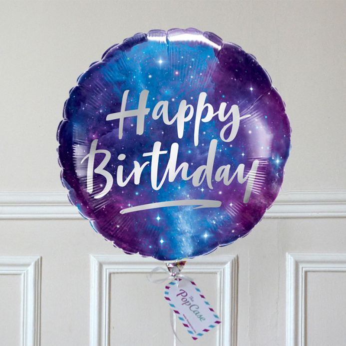 Ballon Cadeau - Happy Birthday Galaxie