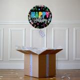Ballon Cadeau - Happy Birthday Néon