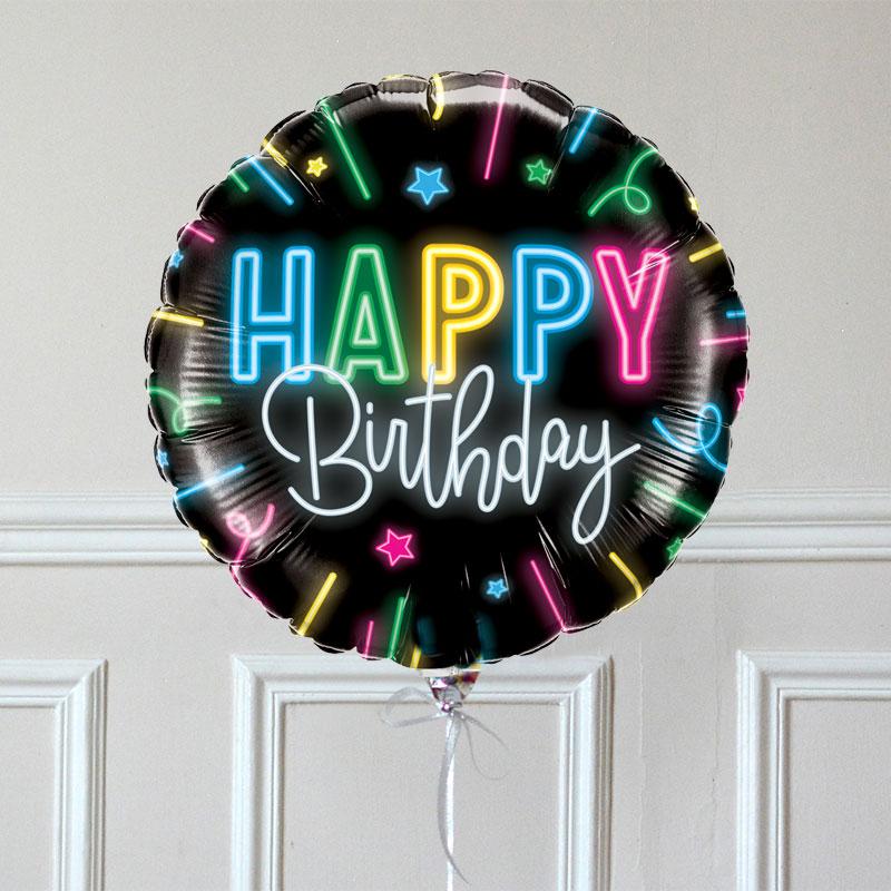 Ballon Cadeau - Happy Birthday Néon - GP