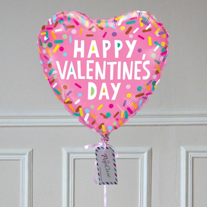 Ballon Cadeau - Saint Valentin Confettis