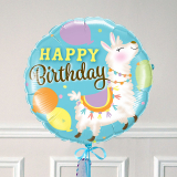 Ballon Cadeau Happy Birthday Lama - The PopCase